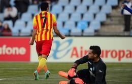 Getafe 2-5 Barcelona: Pedro, Fabregas toả sáng vùi dập chủ nhà (VIDEO)