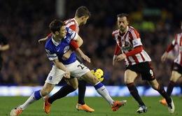 Everton 0-1 Sunderland: Thẻ đỏ của Tim Howard và chiến thắng của đội bét bảng (VIDEO)
