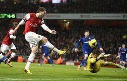 """Arsenal 2-0 Cardiff: Bendtner lại ghi bàn, """"Pháo"""" thắng phút cuối (VIDEO)"""