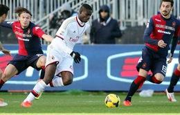 Cagliari 1–2 Milan: Thầy trò Seedorf ngược dòng ngoạn mục