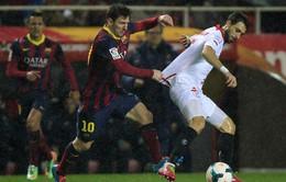 Sevilla 1-4 Barcelona: Messi đưa Barca trở lại ngôi đầu (VIDEO)