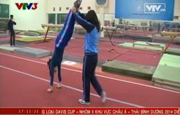 Thể dục dụng cụ dè dặt đặt mục tiêu vàng tại ASIAD