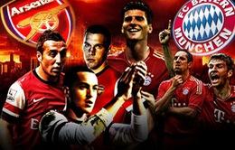 Arsenal - Bayern Munich: Đại chiến bóng đá tấn công (2h45 ngày 20/2, VTV3)