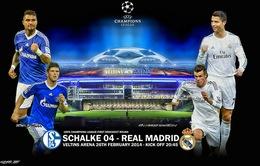 2h45 ngày 27/2, VTV3 Trực tiếp Schalke - Real Madrid