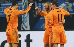 "Chùm ảnh: ""Tam tấu"" Bale-Ronaldo-Benzema huỷ diệt Schalke"
