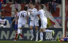 "Atletico 2-2 Real Madrid: Ronaldo cứu thua cho ""Kền kền trắng"" (VIDEO)"
