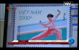 Vẻ đẹp của nữ VĐV trên tem bưu chính