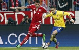 Arsenal tổn thất nghiêm trọng sau chuyến làm khách trước Bayern