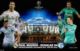 2h45 ngày 19/3, K+PM Trực tiếp Real Madrid - Schalke