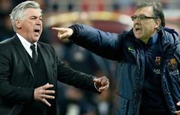 """Trước giờ G """"kinh điển"""" Real - Barca: Cả Ancelotti và Martino đều quyết thắng"""