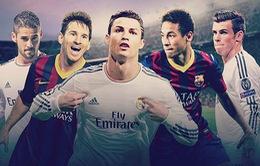 3h00 ngày 24/3, K+1 Trực tiếp kinh điển Real Madrid - Barcelona