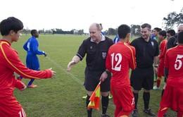 U19 Việt Nam nhận thất bại đầu tiên trên đất Bỉ trước Liên quân JMG