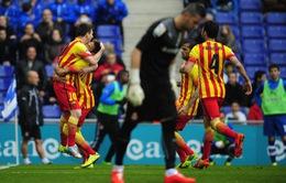 Espanyol 0-1 Barcelona: Bước ngoặt penalty (VIDEO)