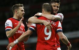 """Arsenal - 3-1 West Ham: """"Pháo"""" trở lại đường đua top 4 (VIDEO)"""