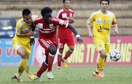 V.League 2014 vòng 15: B.Bình Dương tiếp tục bay cao