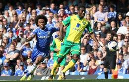 Hoà Norwich, Chelsea chính thức tụt lại trong cuộc đua vô địch Premier League