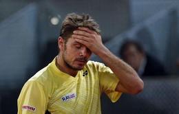 Madrid Masters 2014: Wawrinka bất ngờ bị loại từ vòng 2 bởi tay vợt vô danh