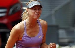 Madrid Masters: Sharapova ngược dòng ngoạn mục, Serena bỏ giải