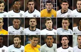 World Cup 2014: ĐT Anh công bố danh sách 23 cầu thủ với nhiều bất ngờ