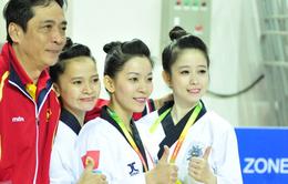 """""""Hoa khôi taekwondo"""" Châu Tuyết Vân giành cú đúp HCV châu Á"""