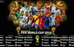Lịch thi đấu và tường thuật trực tiếp World Cup 2014