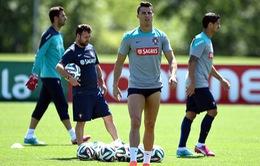 Tin vui cho ĐT Bồ Đào Nha: Cris Ronaldo trở lại luyện tập bình thường