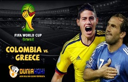 Colombia - Hy Lạp: Khi Falcao nằm trên cáng! (23h00, 14/6, VTV6)