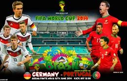 Lịch TRỰC TIẾP World Cup 2014 đêm 16/6 và rạng sáng 17/6: Chờ đại chiến Đức - Bồ Đào Nha