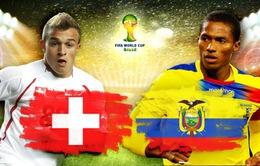Bảng E, Thuỵ Sĩ - Ecuador: Chờ tài của Ottmar Hitzfeld! (23h00 15/6, VTV6)