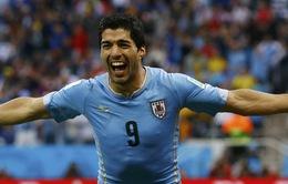 "Anh 1-2 Uruguay: Luis Suarez xuất sắc bẻ nanh ""Tam sư"""