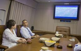 Tổng thống Mỹ Obama xem World Cup 2014 trên chuyên cơ Air Force One