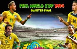 Brazil - Colombia: Hiểm họa khôn lường! (3h00 ngày 5/7, VTV3)