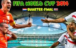Tứ kết World Cup 2014, Hà Lan - Costa Rica: Hết rồi, chuyện cổ tích?! (3h00 ngày 6/7, VTV3)