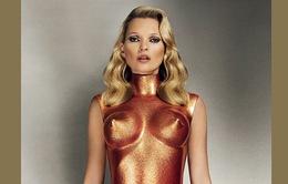 Kate Moss lại gây sốc với hình bìa mới