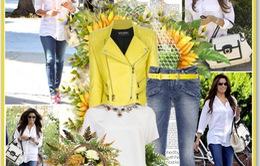 Áo khoác màu pastel cho ngày lạnh