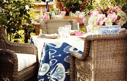 Trang trí bàn tiệc ngoài trời cho ngày vào hạ