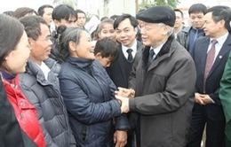Tổng Bí thư thăm, chúc Tết nhân dân huyện Thạch Thất, Hà Nội