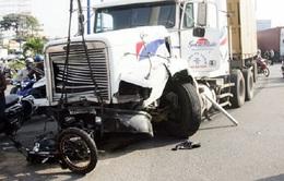 Tai nạn giao thông liên hoàn tại TP. HCM