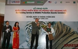 Trao giải Cống hiến Bảo vệ động vật hoang dã 2013