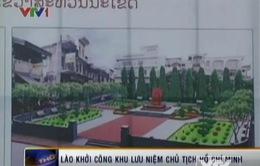 Lào khởi công khu lưu niệm Chủ tịch Hồ Chí Minh