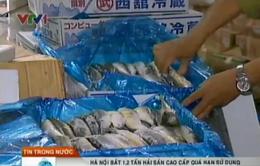 Phát hiện 1,2 tấn hải sản cao cấp quá hạn sử dụng