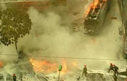 Vụ cháy tại cây xăng ở Hà Nội đã được khống chế