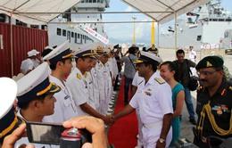 Tàu Hải quân Ấn Độ cập cảng Tiên Sa