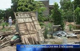 Tiền Giang: Lốc xoáy làm sập nhiều căn nhà