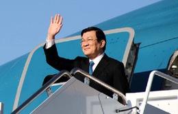 Chủ tịch nước bắt đầu chuyến thăm chính thức Mỹ