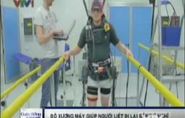 Bộ xương máy giúp người bại liệt đi lại bằng ý nghĩ