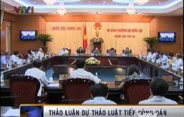 UBTVQH thảo luận Dự thảo Luật Tiếp công dân