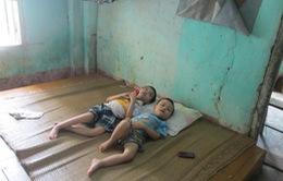 Đắng lòng người mẹ nghèo sinh hai con đều bị bại não