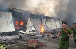 Cháy chợ trái cây Thạnh Trị tại Tiền Giang