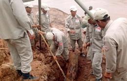 Sau lũ, phát hiện quả bom nặng trên 500kg